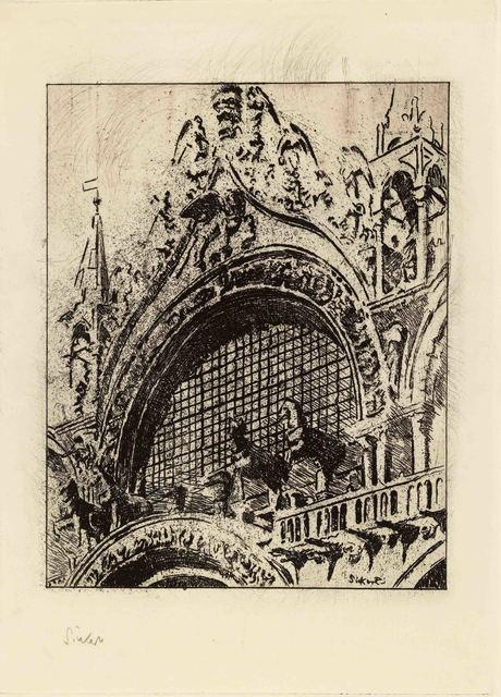 , 'The Horses of St Mark's,' 1902, The Fine Art Society