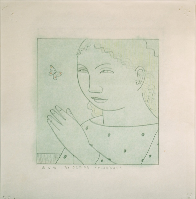 """Andrew Stevovich, 'Phoebus, Study for """"Woman with Butterfly""""', 2005, Adelson Cavalier Galleries"""
