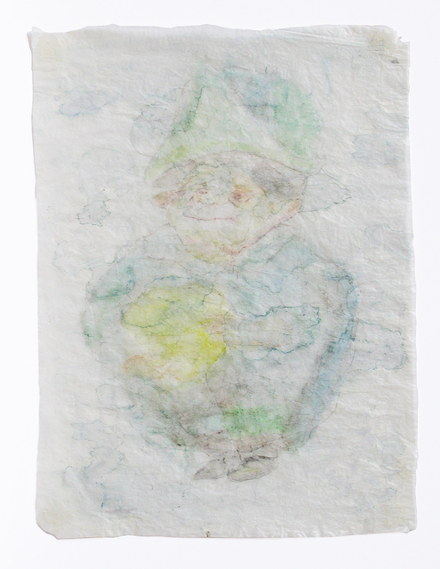 , 'Drawing on crumpled gift wrap,' 2002/2009, Galleria Raucci / Santamaria
