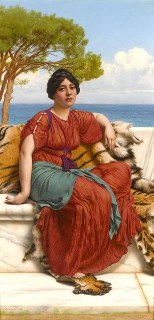 John William Godward, 'By the Blue Ionian Sea', 1916,  M.S. Rau Antiques