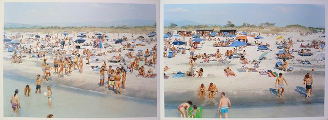 Massimo Vitali, 'Landscape with Figures Portfolio;  Rosignano Diptych, sheets #6 & 7', 2006, McClain Gallery