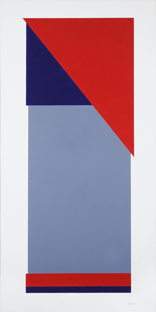 , 'Red Triangle Construction No. 1,' 1998-1999, Charles Nodrum Gallery