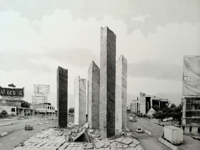 , 'The Satelite Towers destruction,' 2014, Proyecto Paralelo