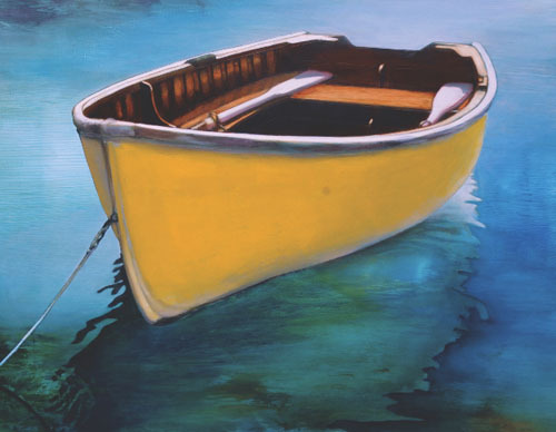 Kay Bradner, 'Yellow Boat', 2011, Painting, Oil on aluminum, Seager Gray Gallery
