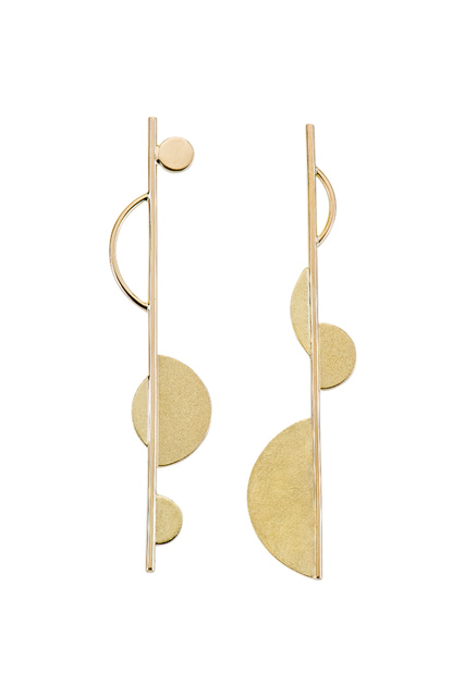 , 'Asymmetric Geometric Gold Earrings ,' ca. 2017, Facèré Jewelry Art Gallery
