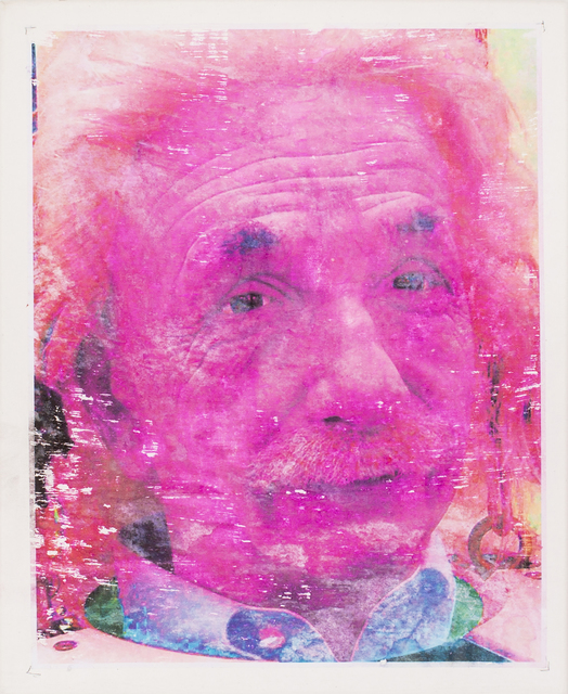 Lee Wells, 'Pink Einstein', 2018, Print, Hand embellished monoprint on canvas, IFAC Arts