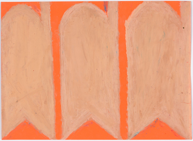 , 'Carrots, Peach (Mixed on Orange),' 2004-2009, Creativity Explored