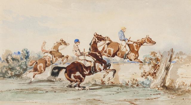 Alfred De Dreux, 'Le saut de l'obstacle', DIGARD AUCTION