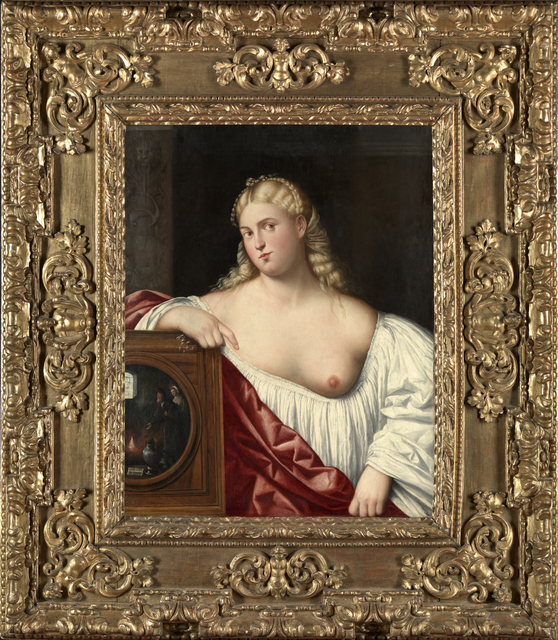 , 'Portrait of a Courtesan with Mirror (Allegory of Vanity),' 1535-1540, Brun Fine Art
