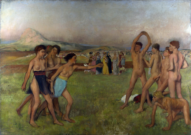 Edgar Degas, 'Young Spartans Exercising', ca. 1860, Art History 101