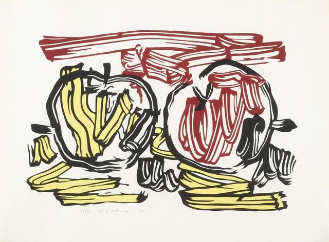 Roy Lichtenstein, 'Red Apple and Yellow Apple', 1983, Print, Color woodcut on handmade Iwano Kizukp Hosho paper, Carolina Nitsch Contemporary Art