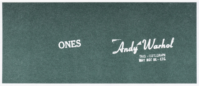 Andy Warhol, 'Andy Warhol Art Cash (Ones)', 1971, Tate Ward Auctions