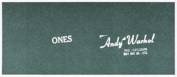 Andy Warhol Art Cash (Ones)