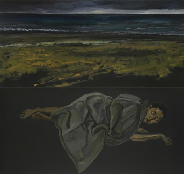 , 'Endormie, manteau gris II (diptyque),' 2007, La Forest Divonne
