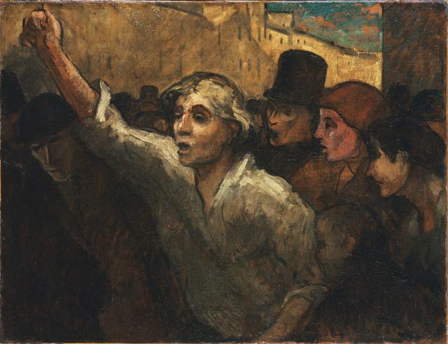 , 'The Uprising (L'Emeute),' ca. 1848, Kimbell Art Museum