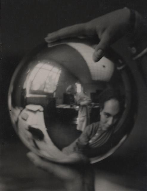 , 'Julia Feinberger hält die Kugel und ich fotografiere (Julia Feinberger holds the ball and I photograph),' 1927, Robert Mann Gallery