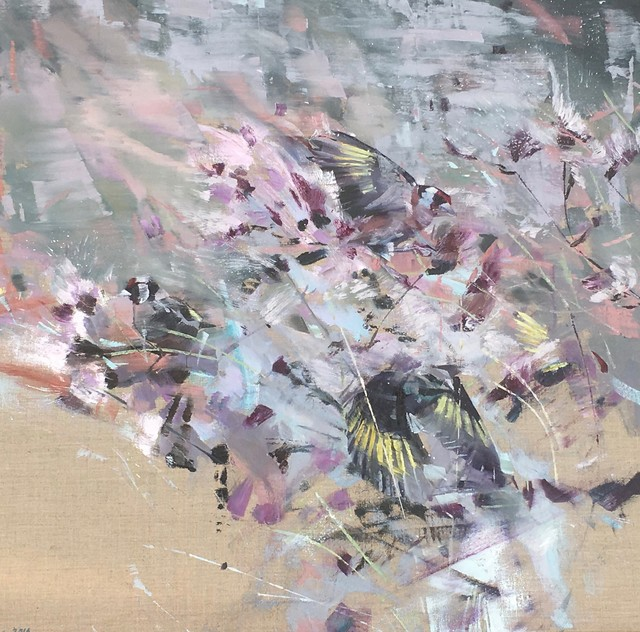 , 'Goldfinch, Thistledown,' 2018, Sarah Wiseman Gallery