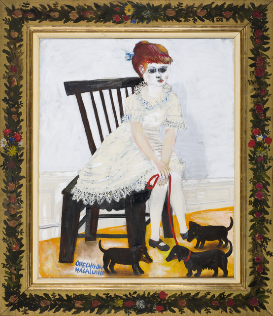 Olle Olsson Hagalund, 'Girl with puppies', ca. 1960, CFHILL