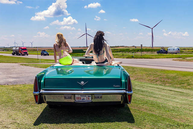, 'Wilbarger County Texas,  TX HWY 287 W, summer,' 2017, Gold/Scopophilia*