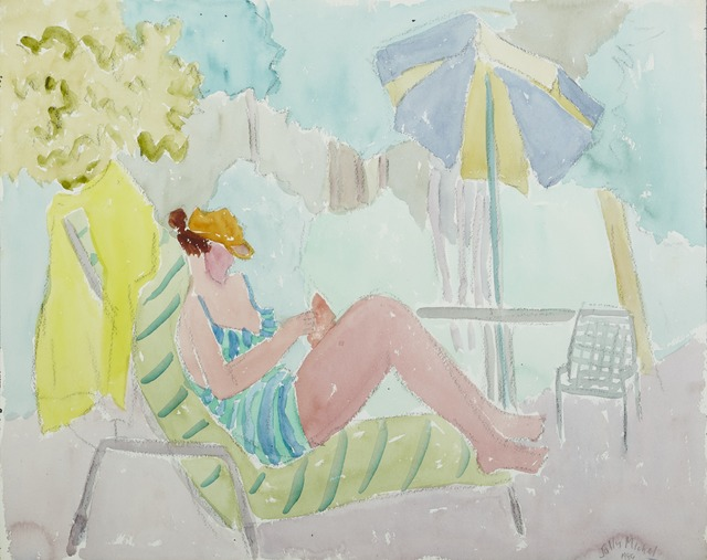 , '[Poolside],' 1986, Childs Gallery