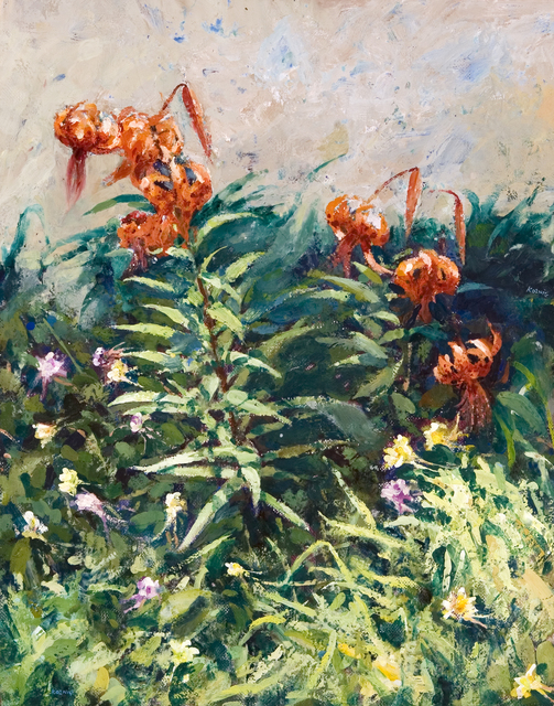 , 'Tigerlillies and Columbine,' , Dowling Walsh