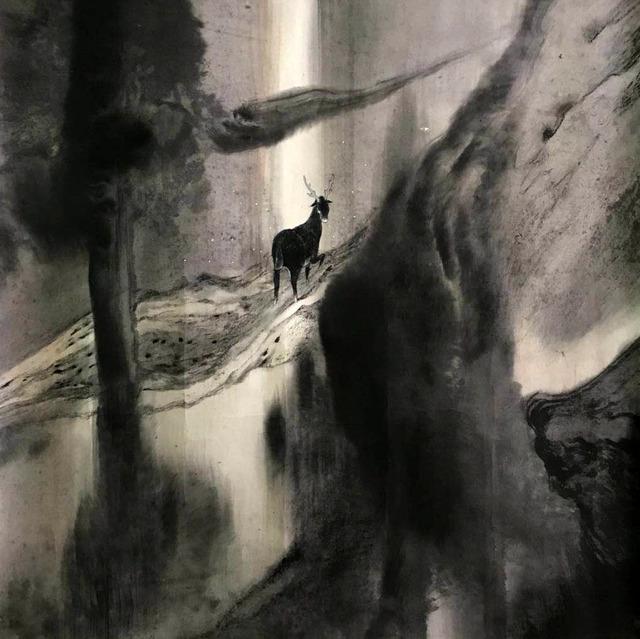 , 'A Deer Looking Back,' 2014, Galerie du Monde