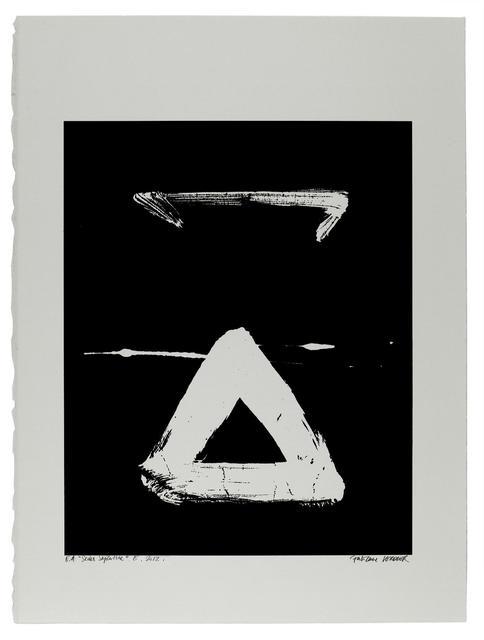 , 'Etude du Sedes Sapientiae 7-28/30 靈感來自Van Eyck 7 (15世紀北歐女畫家),' 2012, Alisan Fine Arts