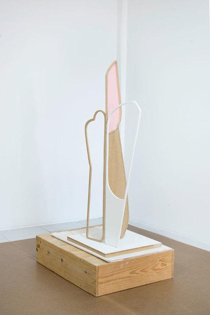 Fuentesal & Arenillas, 'ST (Proyector ondas)', 2020, Sculpture, Medium density wood, pine wood, graphite, canvas, paint and staples, F2 Galería