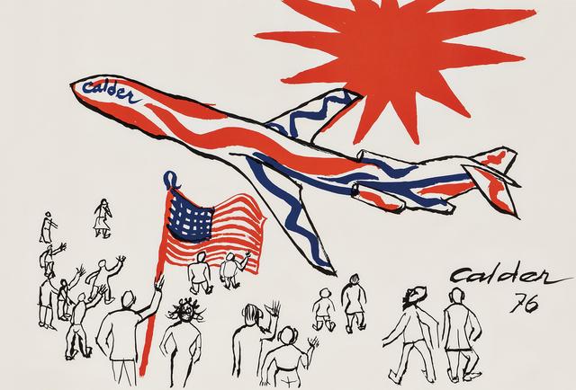 Alexander Calder, 'Flying Colors of the United States /The Bicentennial Plane', 1976, Skinner