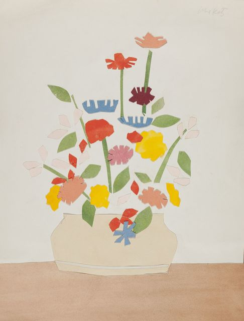 , 'Wildflowers in vase,' 1954-1955, Colby College Museum of Art
