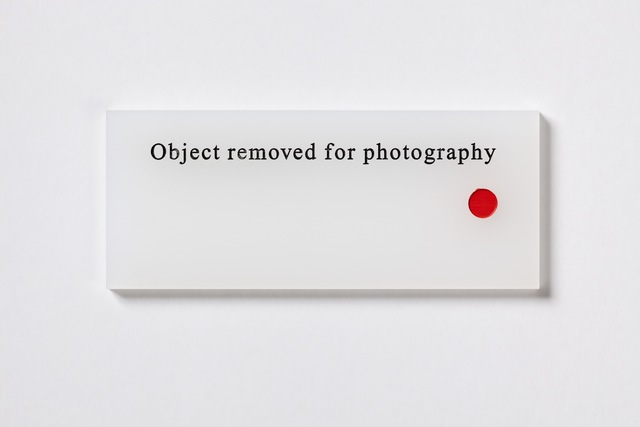 , 'Object removed for photography,' 2008, Paul Stolper Gallery