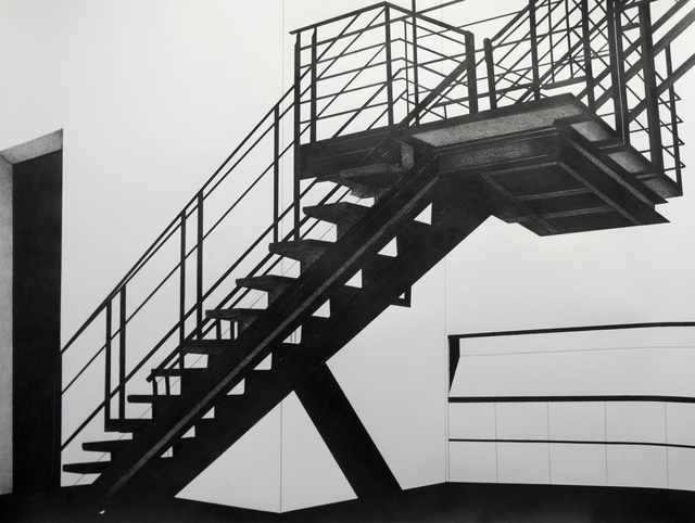 , 'The Staircase at Metro Pictures during the Robert Longo Exhibition II,' 2013, Less is More Projects