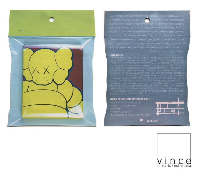 "KAWS, '2-Exhibition Invites / Posters: 1.)""KAWS"", 2008, Gering & Lopez Gallery NYC & 2.)""KAWS EXHIBITION-ORIGINALFAKE"", 2003, Bape-Gallery Japan. ', 2003 & 2008, Ephemera or Merchandise, Lithograph, VINCE fine arts/ephemera"