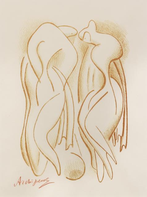 Alexander Archipenko, 'Bathers', 1950, Print, Lithograph, Hindman