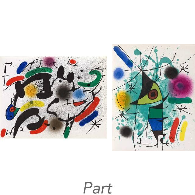 Joan Miró, 'Miró Lithographs I-IV (M. 854; 857-867; 1036-1047; 1112-1117; 1255-1260; C. Bks. 160; 198; 230; 249)', Doyle