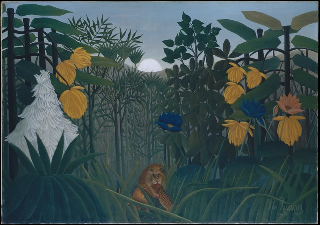 Henri Rousseau, 'The Repast of the Lion', ca. 1907, The Metropolitan Museum of Art