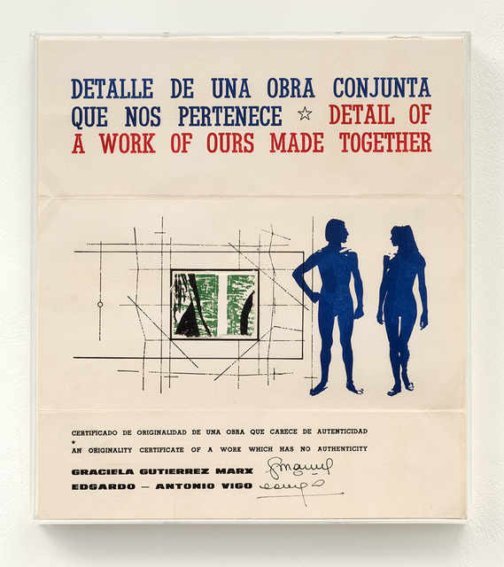 , 'Detalle de una obra conjunta que nos pertenece. [Detail of a work of ours made together],' 1978, Richard Saltoun