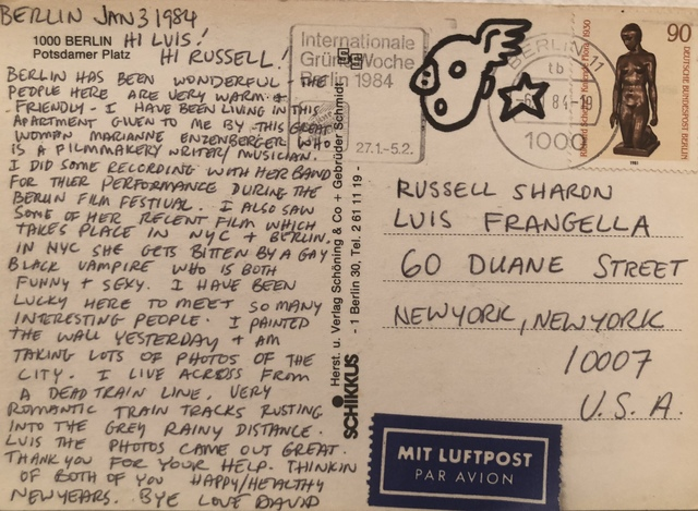 David Wojnarowicz, 'Untitled (To Russell Sharon and Luis Frangella from Berlin)', 1984, Hal Bromm