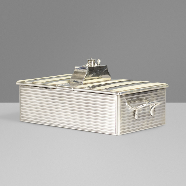 Goldsmiths & Silversmiths Co Ltd, 'Sterling silver humidor', 1921, Wright