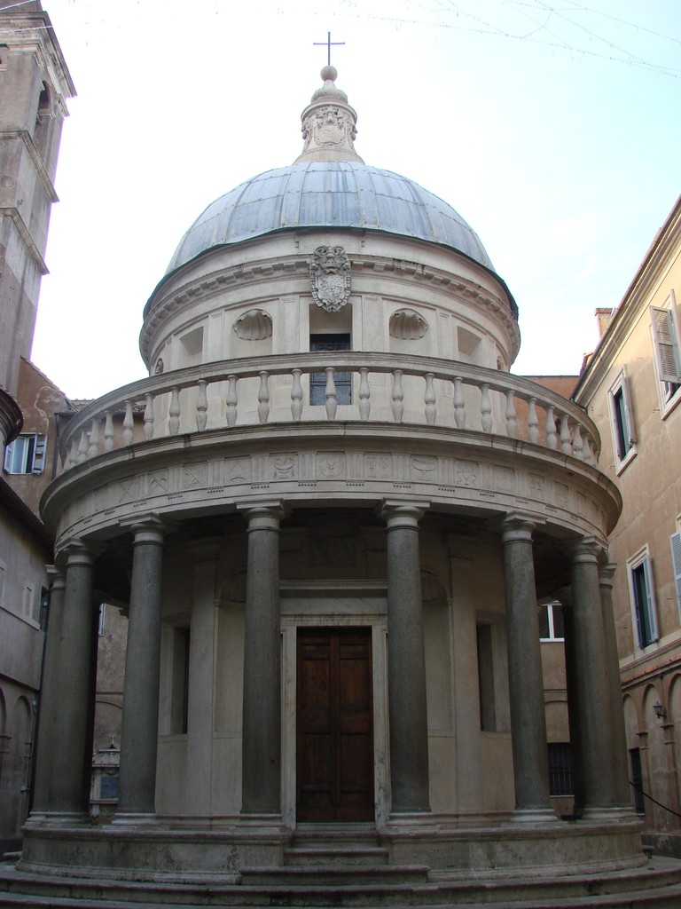 an analysis of the tempietto design by donato bramante Architects pontelli, caprino and bramante, though designed separately,  collectively  upon closer analysis the chiesa di san pietro acts almost as a  reliquary for  all circulation leads vertical elements directly to bramante's  tempietto that sits in  meo del caprino, & donato bramante were  commissioned by the spanish.
