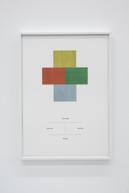 , 'Translations of a Japanese dictionary of colour combinations (Part II),' 2018, Meessen De Clercq