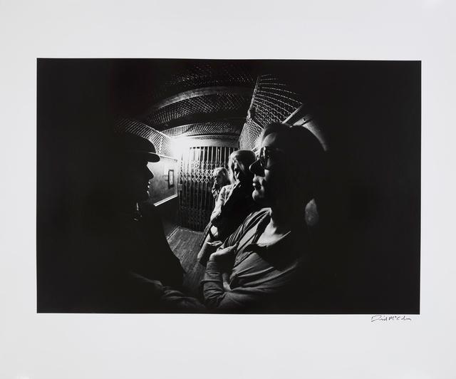 , 'Andy Warhol in the Factory Elevator with Sarah Dalton, Baby Jane Holzer, and Gerard Malanga, New York,' 1965, Gagosian