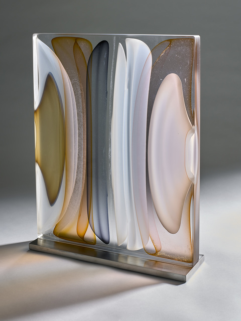 , 'Infusion Block in Opal White, Amber, Brown and Grey,' 2017, Thomas Riley Studio