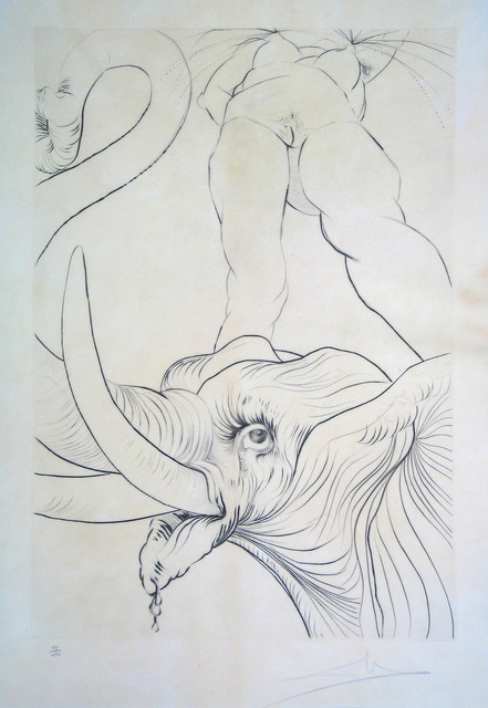 Salvador Dalí, 'Now it is Evening', 1973, Print, Engraving, Goldmark Gallery