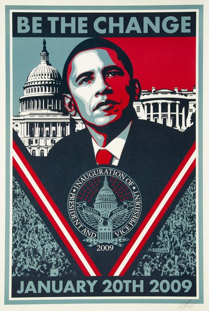 Shepard Fairey, 'Be The Change', 2009, Heritage Auctions