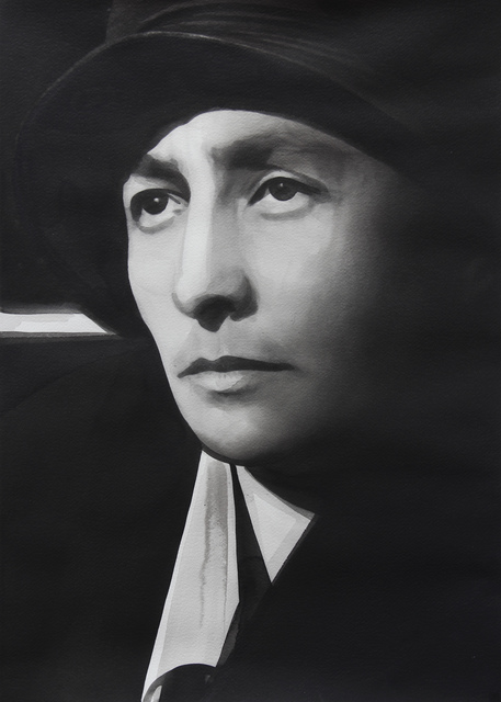 ", 'Georgia O'Keeffe, from the series ""Female Heroes"",' 2016, PRISKA PASQUER"
