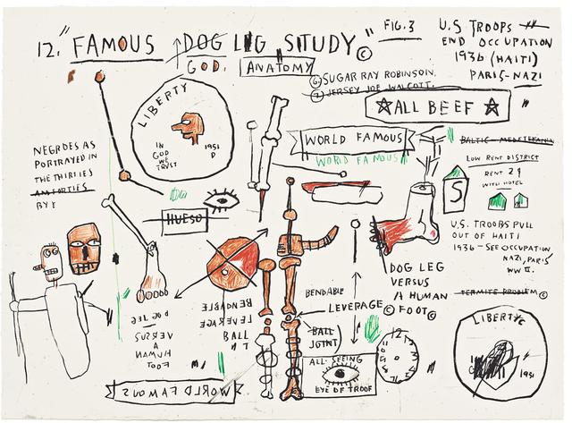 Jean-Michel Basquiat, 'Dog Leg Study', 1982-2019, Taglialatella Galleries