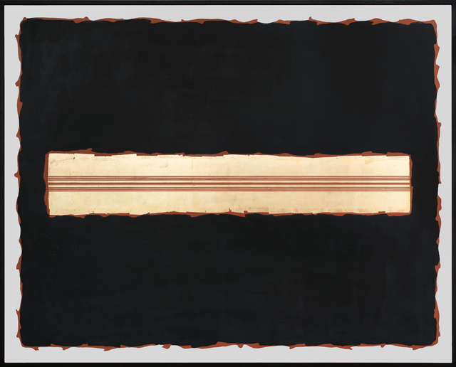 George Dunbar, 'Dante - Surge Series', 2020, Painting, Red gold with red, black and white clay on panel, Callan Contemporary