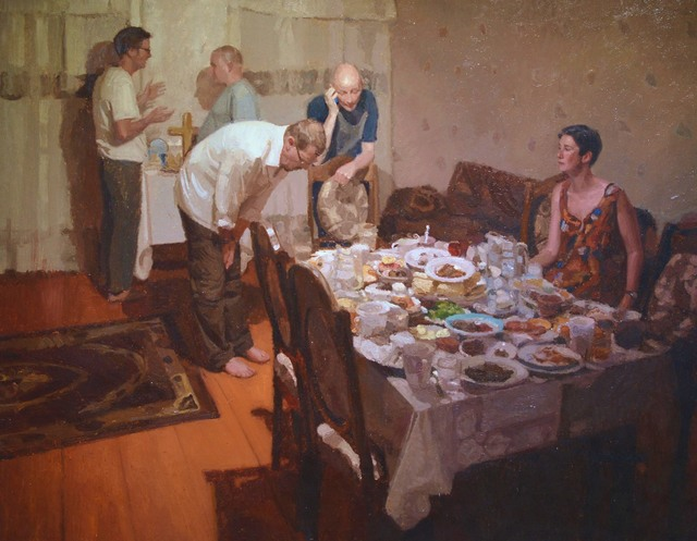 Ewan McClure, 'Interlude 1', 2014, Painting, Oil on Board, Castlegate House Gallery