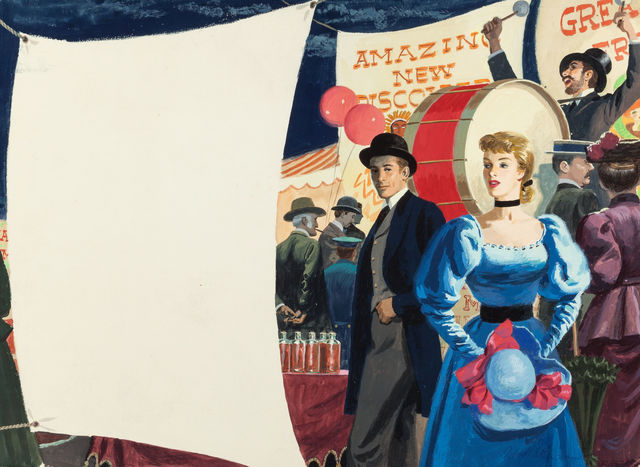 Robert Patterson, 'At the Fair, Magazine Story Illustration', Painting, Gouache on Board, The Illustrated Gallery